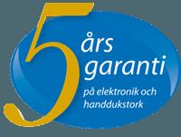 Handdukstorkar 5 års garanti