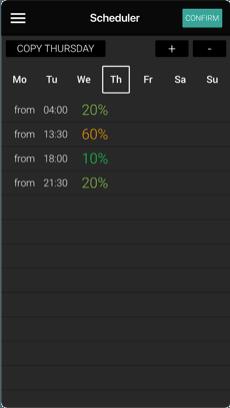 App för handdukstork - olle-connect - Skapa eget veckoschema