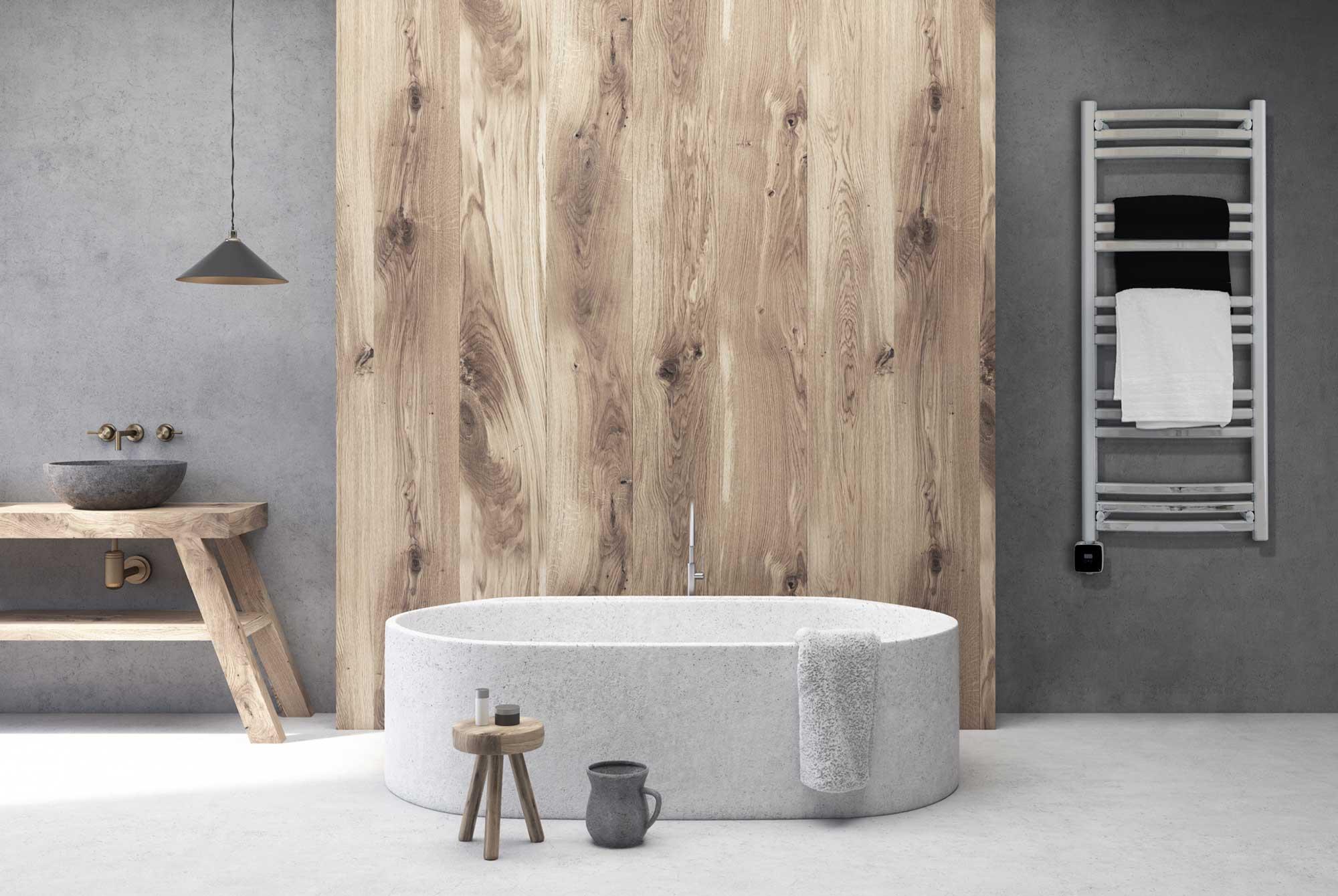 Handdukstork i modernt badrum