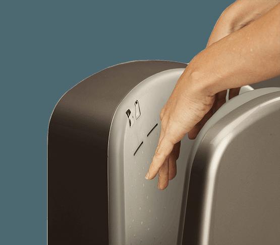 Handtorken torkar händerna supersnabbt