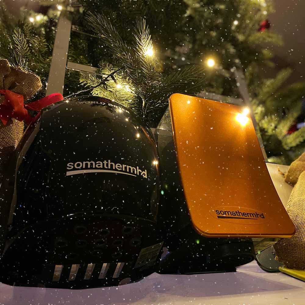 handdukstork och handtorkar under julgran