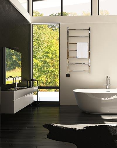 Elektrisk handdukstork i badrum